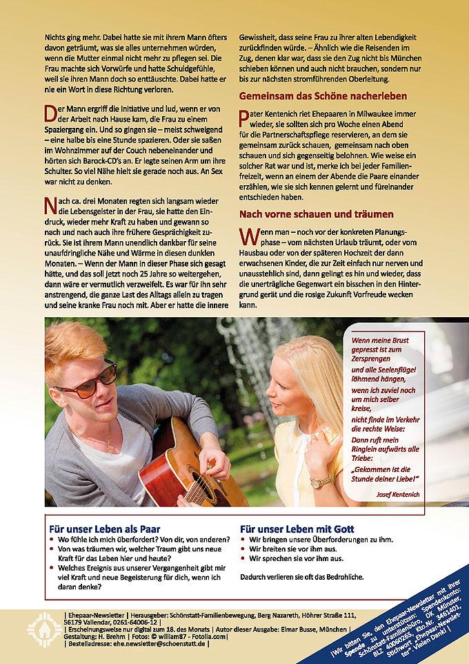 """Ehepaar-Newsletter 04/2014 """"Wir zwei - Immer wieder neu"""" S.2 (Foto: © william87 - Fotolia.com)"""