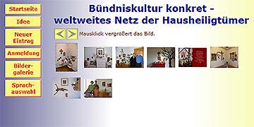 Auf der Internetseite www.familienbewegung.de/hh entsteht das virtuelle Netz der Hausheiligtümer in Deutschland