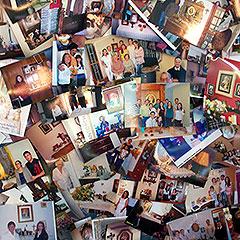 Beim internationalen Hausheiligtumskongresses 2013 in Milwaukee, USA, waren Fotos von Hausheiligtümern Teil der Bühnengestaltung (Foto: Vilches)