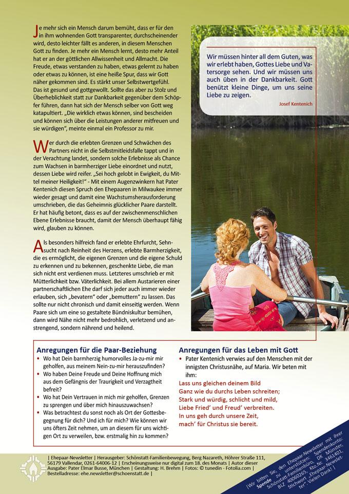 "Ehepaar-Newsletter 06/2014 ""Wir zwei - Immer wieder neu"" S.2 (Foto: © tunedin - Fotolia.com)"