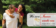 "Ehepaar-Newsletters ""Wir zwei - Immer wieder neu"" (Foto: © tunedin - Fotolia.com)"