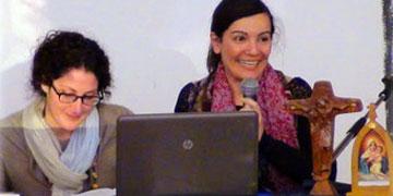 Cristiana Usai und Pamela Fabiano, aus dem Team der italienischen Schönstatt-Jugend (Foto: schoenstatt.org)