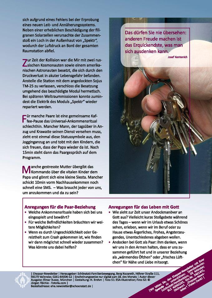 """Ehepaar-Newsletter 08/2014 """"Wir zwei - Immer wieder neu"""" S.2 (Foto: © Jürgen Fälchle - Fotolia.com)"""