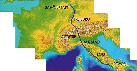 Die Route im Oktober 2014 (Foto: fackellauf2014.org)