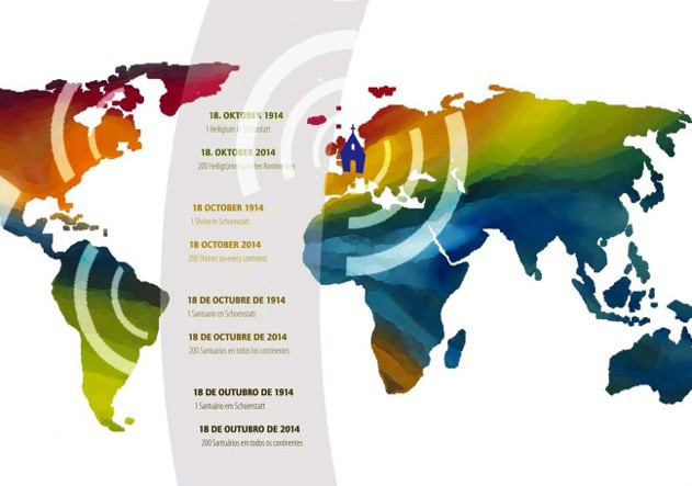 Schönstattjubiläum Weltkarte (Foto: grafikwiese.de)
