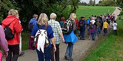 Pilgerweg vom Rottenburger Dom zum Mitgründerheiligtum auf der Liebfrauenhöhe (Foto: Hirscher)