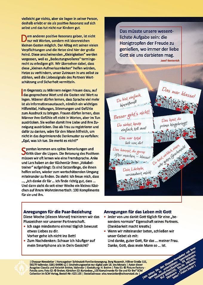 """Ehepaar-Newsletter 09/2014 """"Wir zwei - Immer wieder neu"""" S.2 (Foto: © Jürgen Fälchle - Fotolia.com)"""