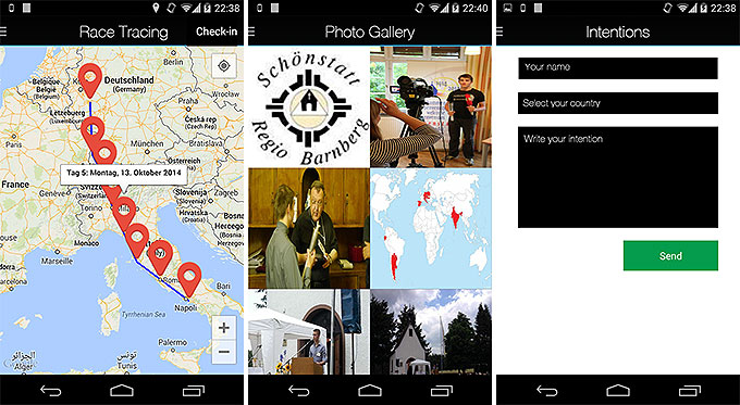 Fackellauf-App für Smartphones (Android und iPhone) (Foto: fackellauf2014.org)