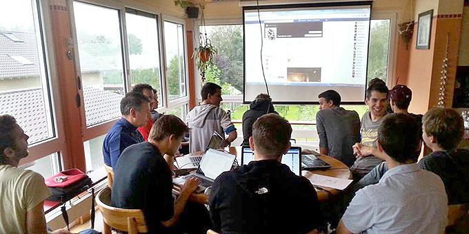 Letztes Vorbereitungstreffen des Kernteams in Bavendorf (Foto: fackellauf2014.org)