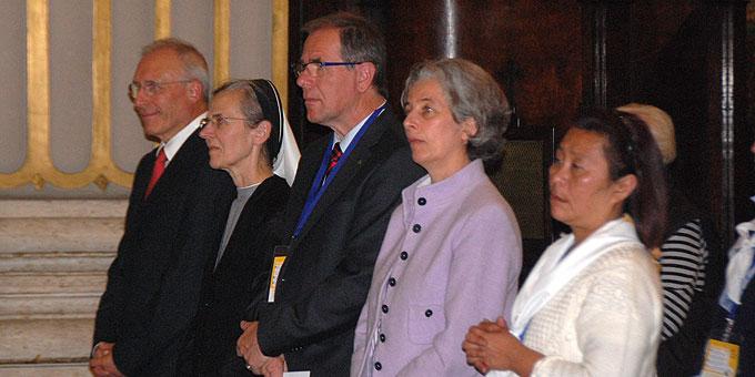 """Vertreter aus der ökumenischen Initiative """"Miteinander für Europa"""" feierten den Gottesdienst mit (Foto: Brehm)"""