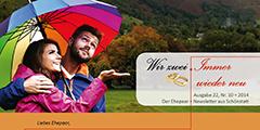 """Ehepaar-Newsletter 10/2014 """"Wir zwei - Immer wieder neu"""" S.1 (Foto: © gpointstudio)"""