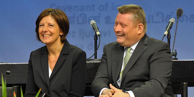 Malu Dreyer, Ministerpräsidentin von Rheinland-Pfalz und Bundesgesundheitsminister Hermann Gröhe (Foto: Kröper)