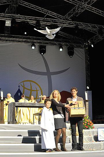 """Start der """"Friedenstauben"""" (Foto: Kröper)"""