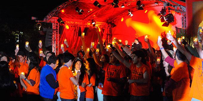 Die Fackelläufer haben das Licht weitergegeben (Foto: Kröper)
