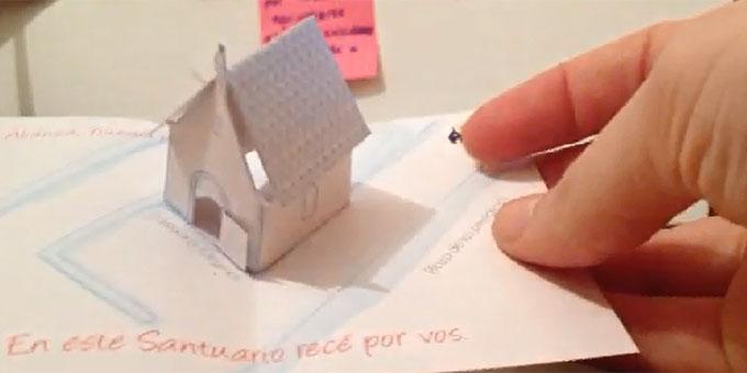 Ein faltbarer 'Pocket Shrine' von Maia Wyler, Argentinien (Video: privat)