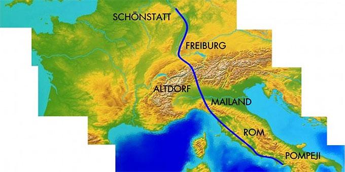 Streckenverlauf (Foto: fackellauf2014.org)