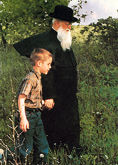 Mike Fenelon an der Hand Pater Kentenichs (Foto: Archiv)
