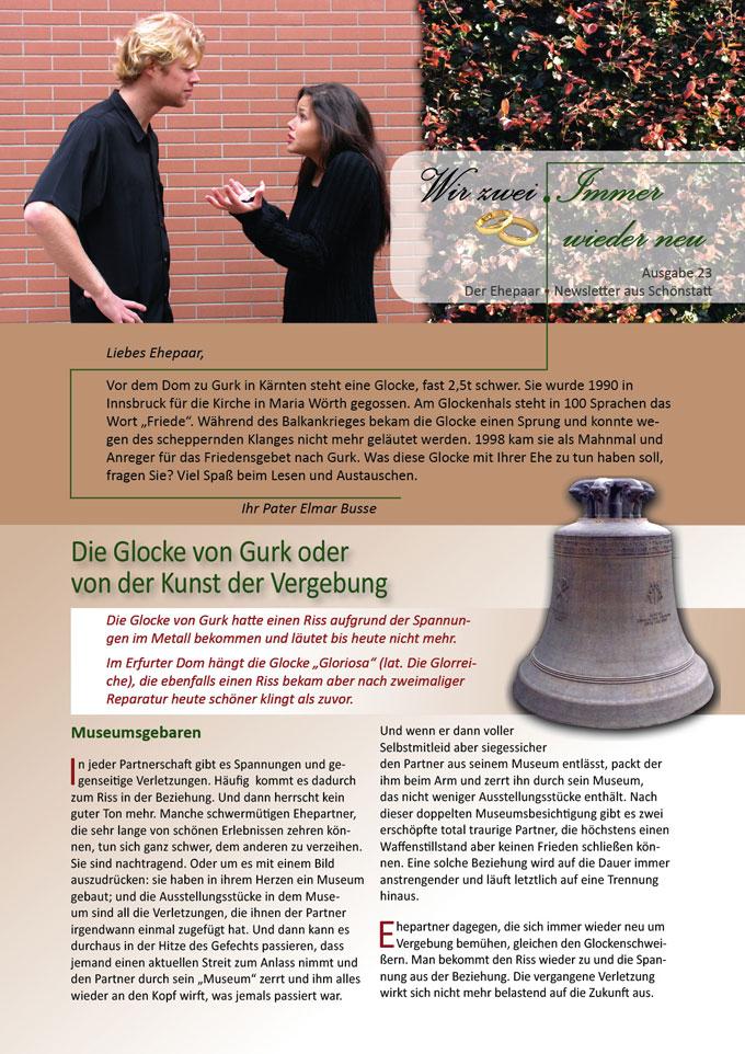 "Ehepaar-Newsletter 11/2014 ""Wir zwei - Immer wieder neu"" S.1 (Foto: © Luisafer - fotolia.com)"