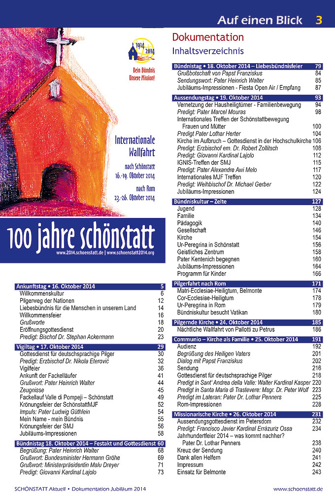Dokumentation Inhaltsverzeichnis (Foto: Brehm)