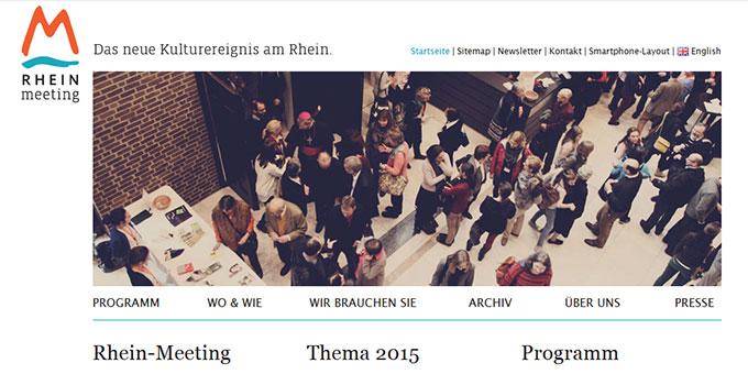 Homepage www.rhein-meeting.org