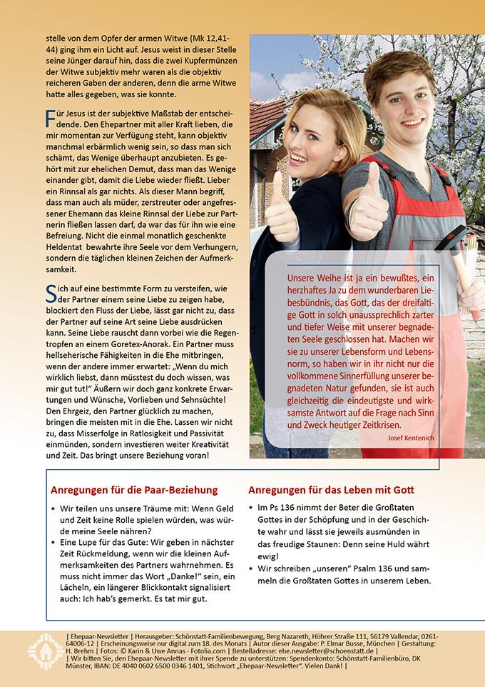 """Ehepaar-Newsletter 03/2015 """"Wir zwei - Immer wieder neu"""" (Foto: © Karin & Uwe Annas - Fotolia.com)"""
