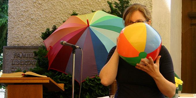 Das Symbol der Vielfalttage ist der Regenbogen (Foto: Erhard)