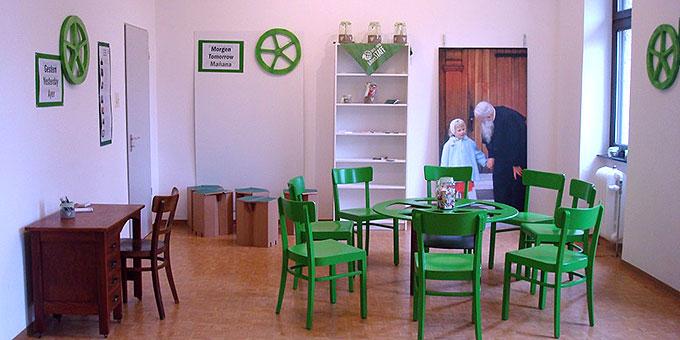 """Ein """"Mini""""-Bündniskultur-Zelt Pädagogik befindet sich im Bundesheim in Schönstatt (Foto: Hellmich)"""