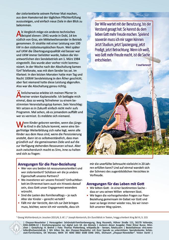 "Ehepaar-Newsletter 08/2015 ""Wir zwei - Immer wieder neu"" (Foto: kenzon - fotolia.com)"