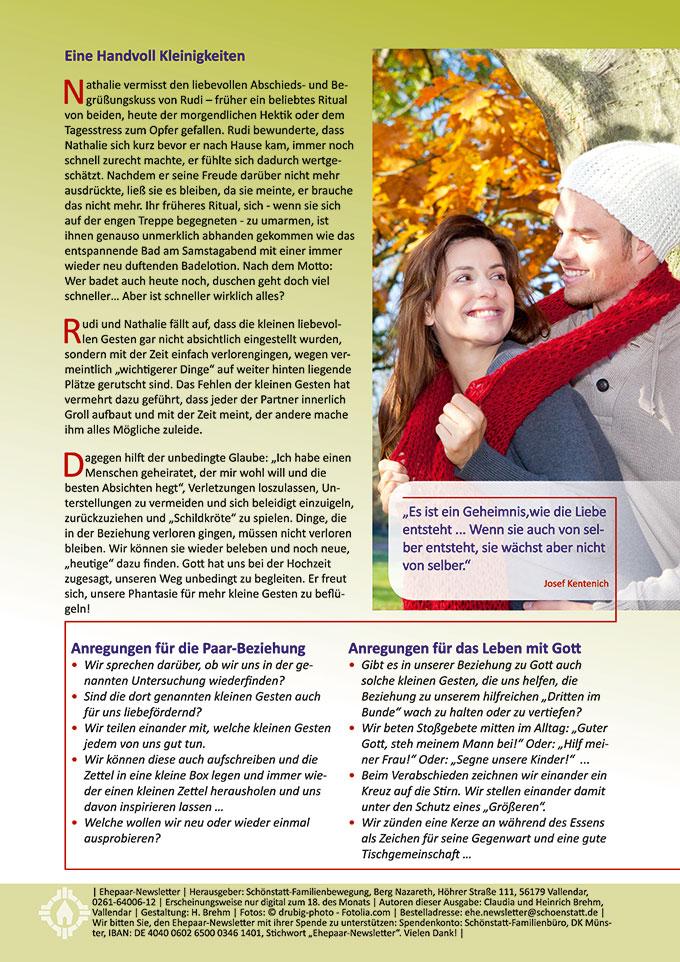 """Ehepaar-Newsletter 10/2015 """"Wir zwei - Immer wieder neu"""" (Foto: © drubig-photo - Fotolia.com)"""