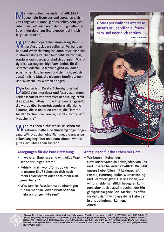 "Ehepaar-Newsletter 01/2016 ""Wir zwei - Immer wieder neu"" (Foto: © jozzeppe777 - Fotolia.com)"