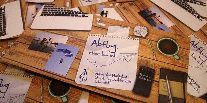 """""""Abflug. Hier bin ich."""" Motto-Collage (Foto: NdH)"""