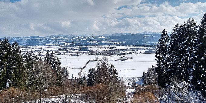 Ein toller Blick auf die Alpen vom Schönstatt-Zentrum Memhölz aus (Foto: NdH)