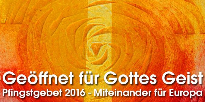 Pfingstgebet (Grafik: Maria Kiess, Freising)