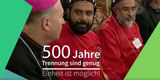500 Jahre Trennung sind genug - Einheit ist möglich! (Foto: Traierausschnitt)