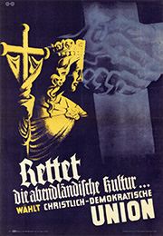 Landtagswahlplakat Baden-Württemberg aus dem Jahr 1946 (Foto: KAS/ACDP 10-002 : 20 CC-BY-SA 3.0 DE)