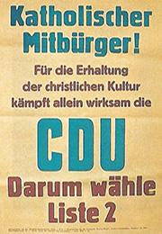Plakat der CDU Hessen aus dem Jahr 1946 (Foto: KAS gemeinfrei)