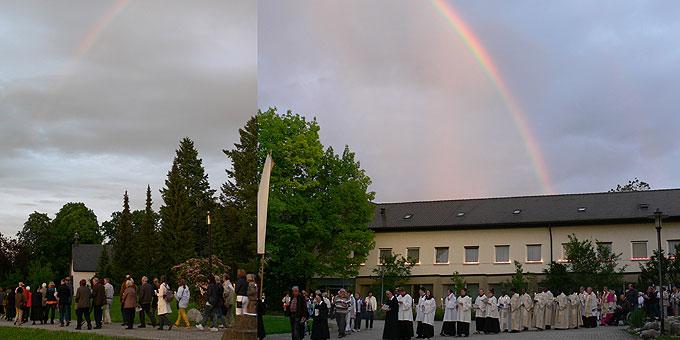 Ein besonderer Regenbogen ist sichtbares Zeichen der Bestätigung von oben (Foto: Gehrlein)