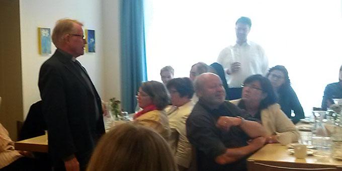 Pater Michael Johannes Marmann ist bewegt von der Geschichte des Miteinanders und der Möglichkeit das Charisma Schönstatts einzubringen (Foto: Troxler)