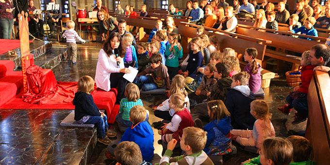 Familien-Adventstagung mit vielen Kindern im Schönstatt-Zentrum Liebfrauenhöhe (Foto: Fischer)