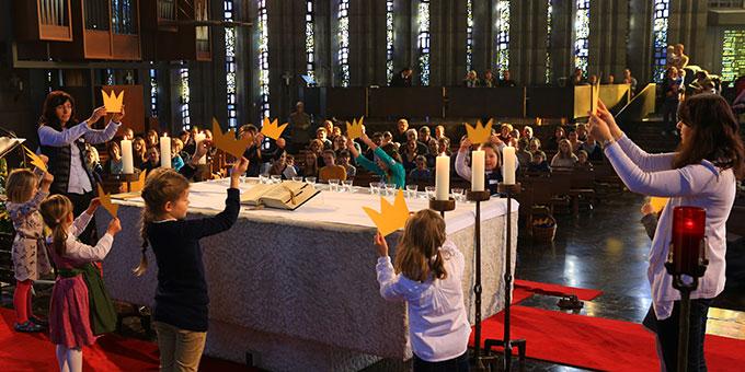 Familiengottesdienst am Christkönigssonntag (Foto: Fischer)