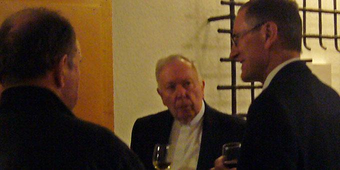 Im Gespräch mit Landrat Roland Bernhard (Foto: Wehrle)