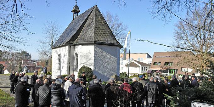Statio beim Heiligtum und Franz-Rheinisch-Stein (Foto: Männerliga)