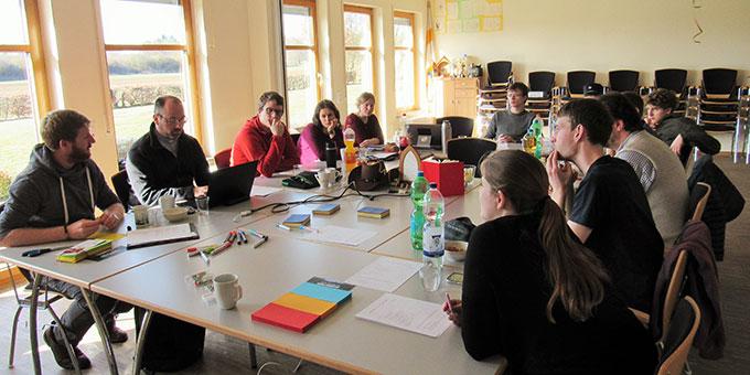 Das NdH-Kernteam bei seinem zweiten Treffen im Schönstatt-Zentrum Herxheim (Foto: Roth)