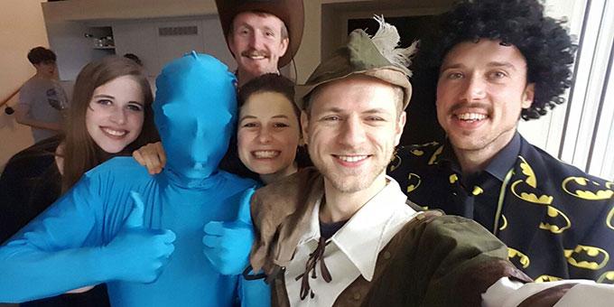 Der Spaß kam nicht zu kurz beim NdH-Kernteam-Treffen am Faschingswochenende (Foto: Roth)