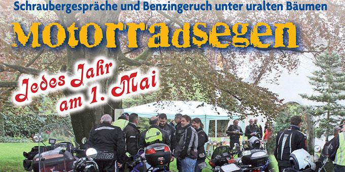 Motorradsegnung im Schönstatt-Zentrum Trier (Foto: Brück)