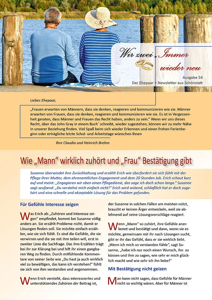 "Ehepaar-Newsletter 06/2017 ""Wir zwei - Immer wieder neu"" (Foto: © Jenny Sturm, fotolia.com)"