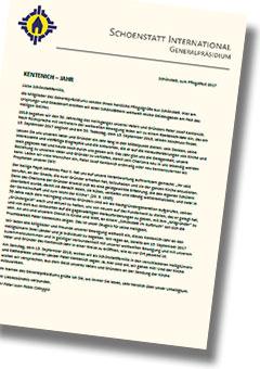 Brief des Generalpräsidiums an die internationale Schönstattfamilie