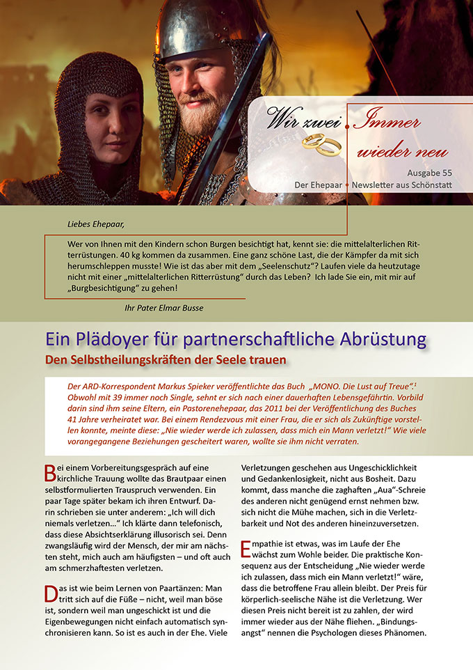 "Ehepaar-Newsletter 07/2017 ""Wir zwei - Immer wieder neu"" (Foto: © dvoinik, fotolia.com)"