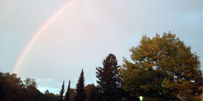 Ein Regenbogen zur Eröffnung des Kentenich-Jahres (Foto: Kieferle)