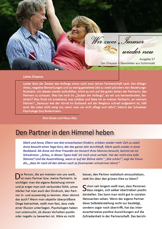 "Ehepaar-Newsletter 09/2017 ""Wir zwei - Immer wieder neu"" (Foto: Matthias Stolt - fotolia.com)"